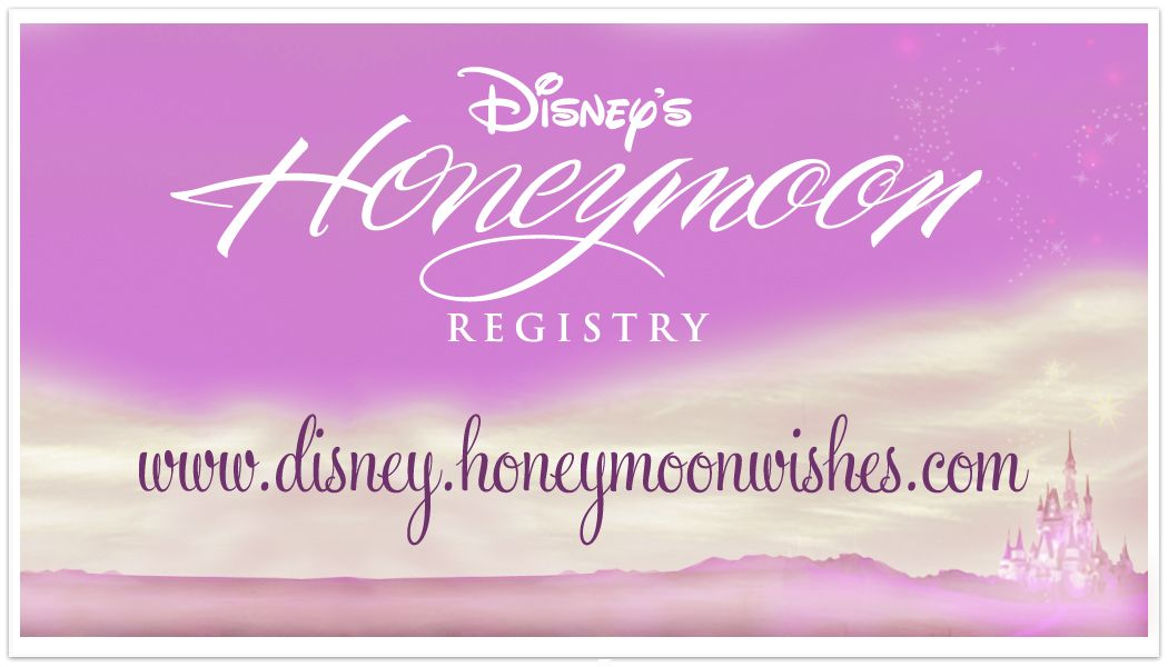 Disney Honeymoon Wishes Registry