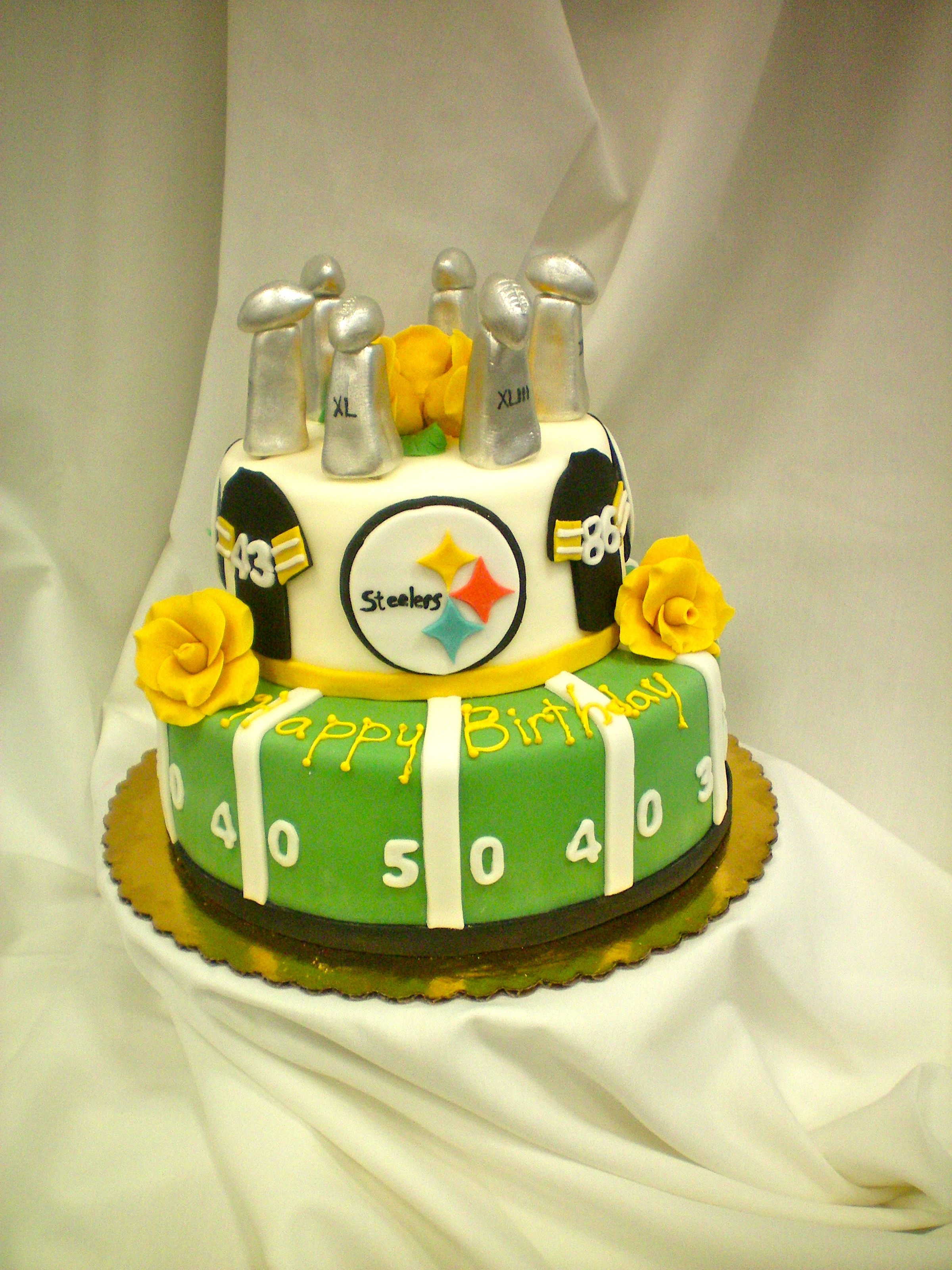 Steelers Cake | Things for My Wall | Pinterest | Cake, Pittsburgh ...