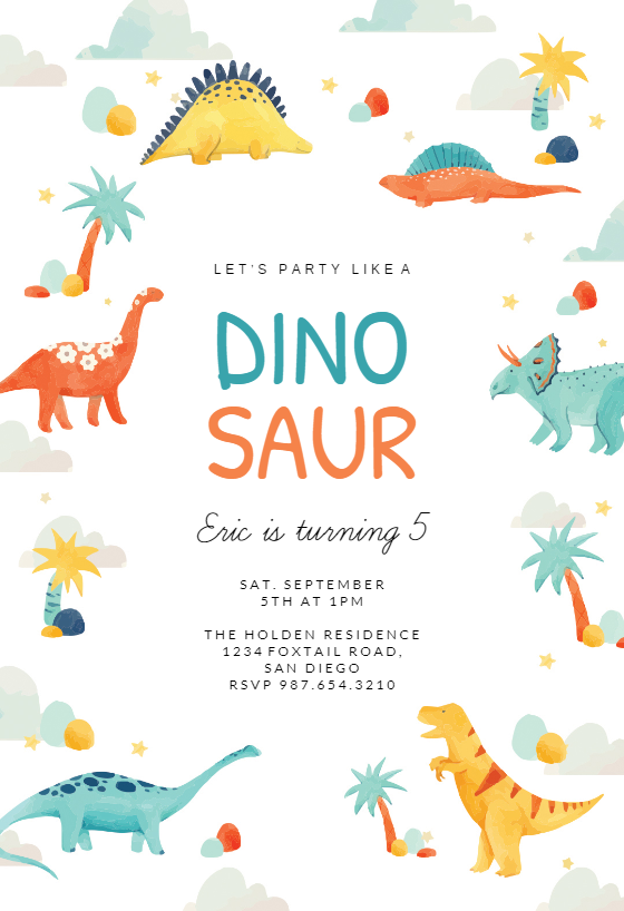 Dinosaur Adventure Birthday Invitation Template Free Greetings Island Dinosaur Birthday Invitations Free Dinosaur Birthday Invitations Dinosaur Birthday Party Invitations