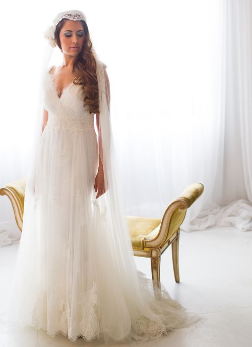 So angelic! Bridal gown and accessory available at Galleria della ...