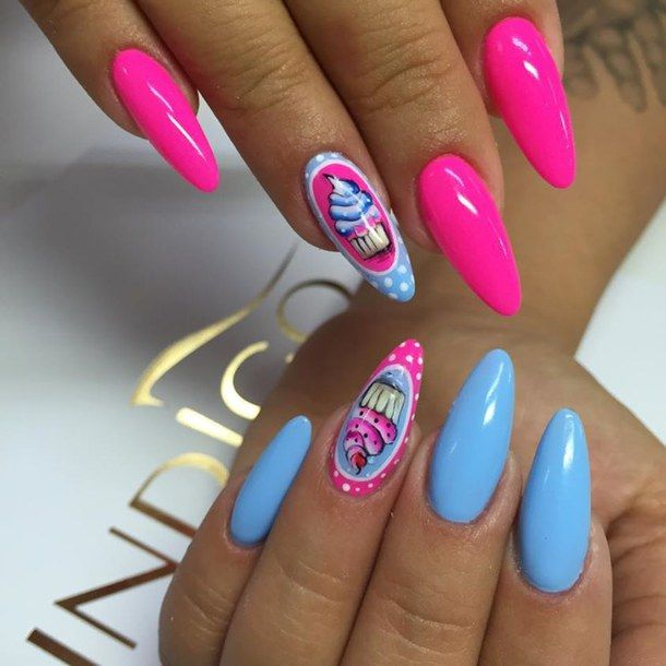 Neon Pink And Blue Nail Art Design - Neon Pink And Blue Nail Art Design Neon Nails Pinterest Nails