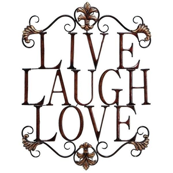 Live laugh love modern abstract metal wall art home decor decoration 28 inch updated traditional bronze finish iron open design live love laugh scrollwork