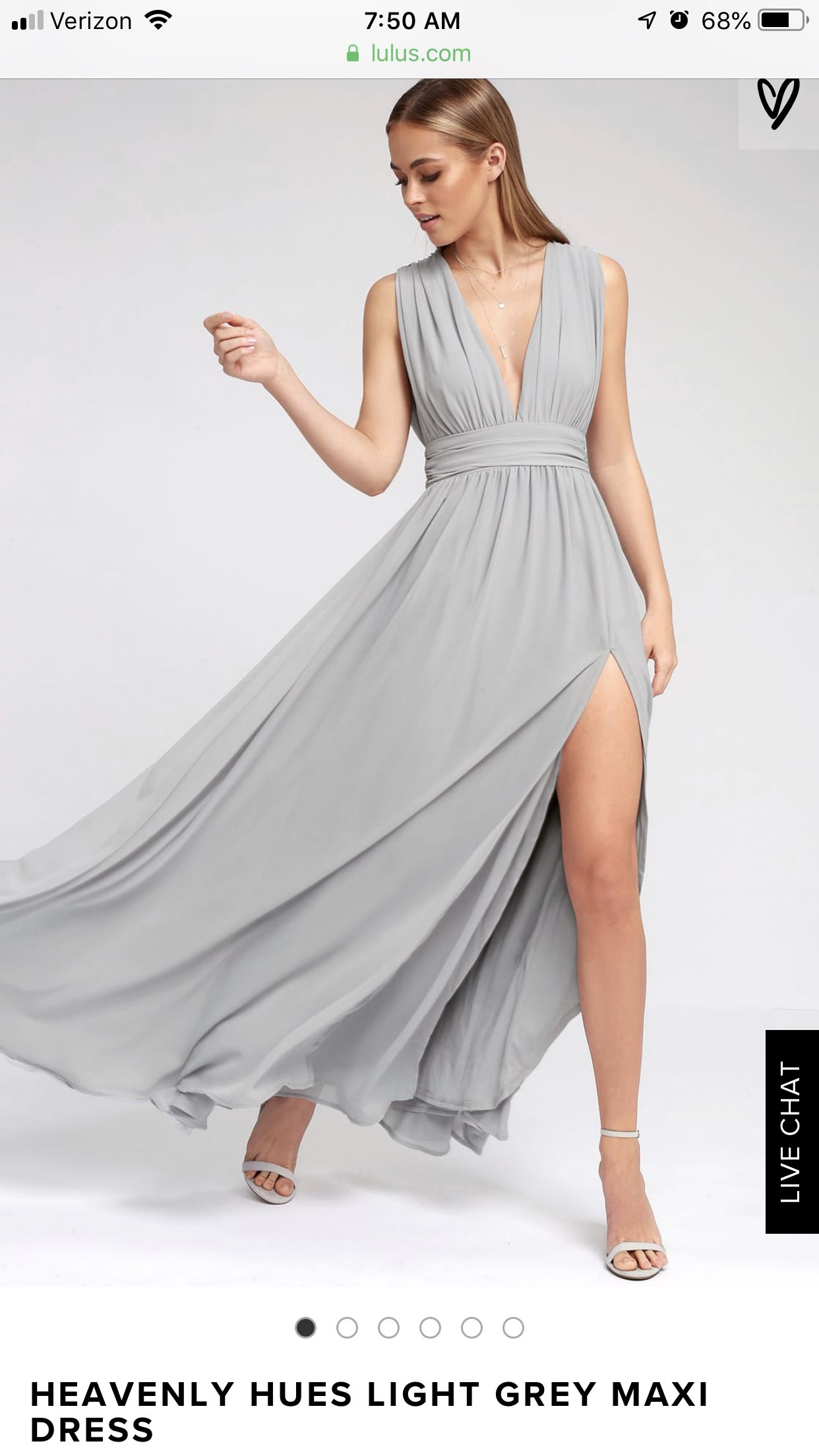 Pin by Abby Bloomquist on Wedding   Maxi dress, Light grey ...
