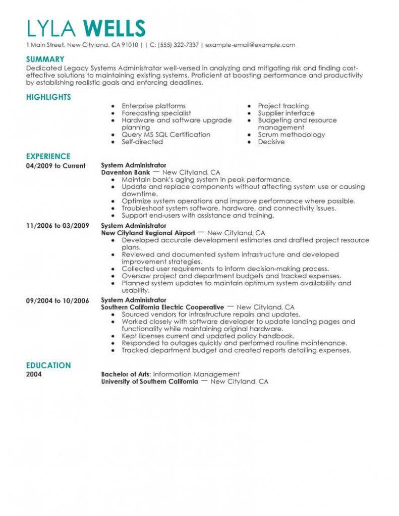Network Administrator Cv Sample 2021 Job Resume Examples Good Resume Examples Professional Resume Writing Service