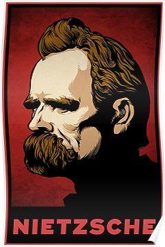 Nietzsche Print Poster Poster Prints Nietzsche Literature Art