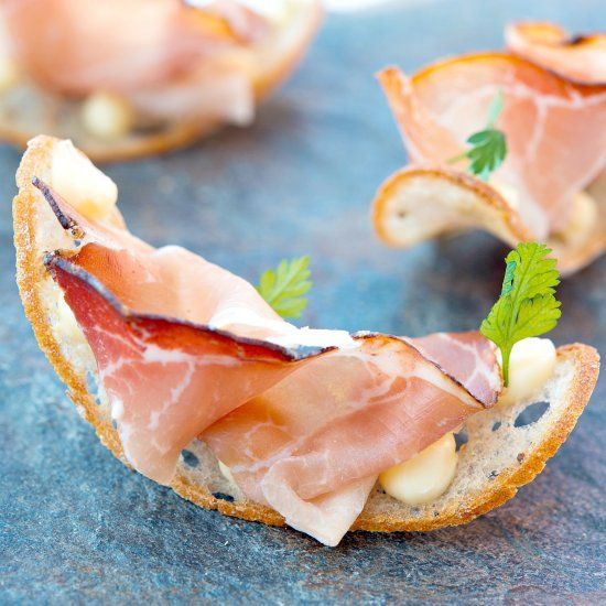 Puccia chip canap foodgawker recipes pinterest easy bread puccia chip canap this elegant easy bread chips recipe by matteo metullio showcases two celebrated italian ingredients country malga butter and speck forumfinder Gallery