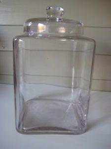 details about square glass storage sweet bonbon jar with lid rh pinterest com