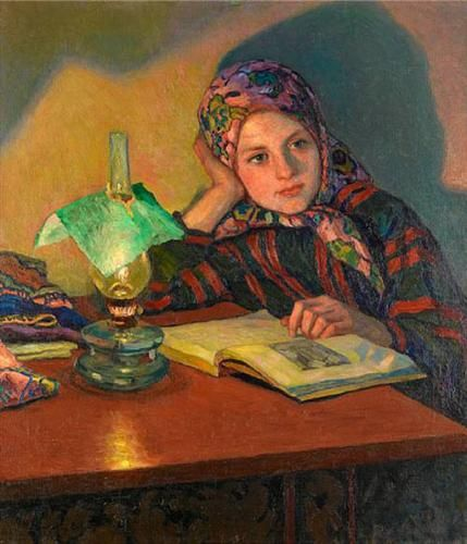 Inspiration - Nikolay Bogdanov-Belsky | Reading art, Art, Woman reading