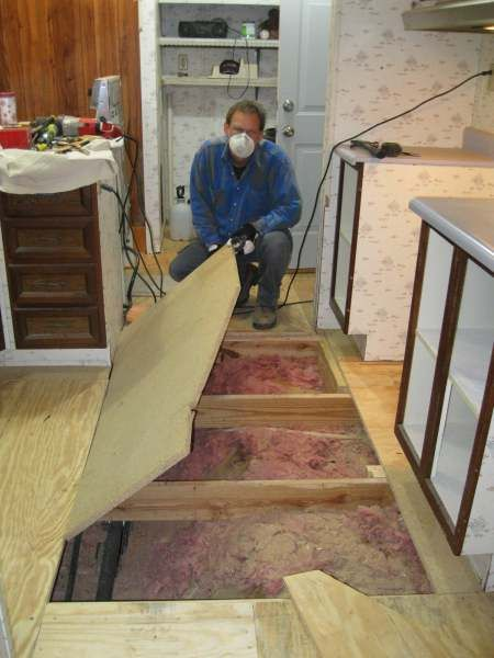 How To Replace Subflooring In A Mobile Home Lake House Pinterest