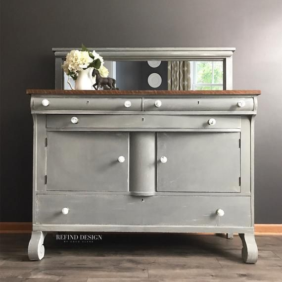antique empire buffet farmhouse sideboard with a modern twist rh pinterest com
