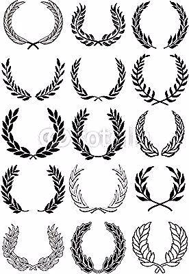 Vektor Verzieren Kranz Set Tattoos Fur Jungs 15