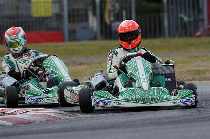 Michael Schumacher driving for Tony Kart in 2013