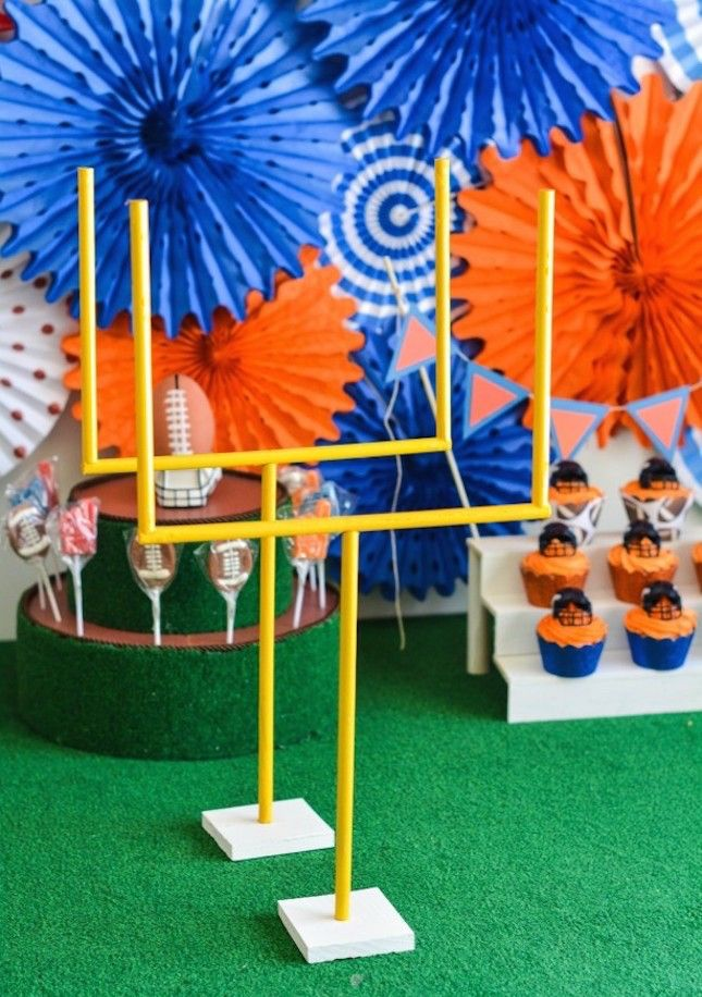 13 Modern Colorful Diy Super Bowl Party Decorations Superbowl Party Decorations Diy Super Bowl Football Decorations