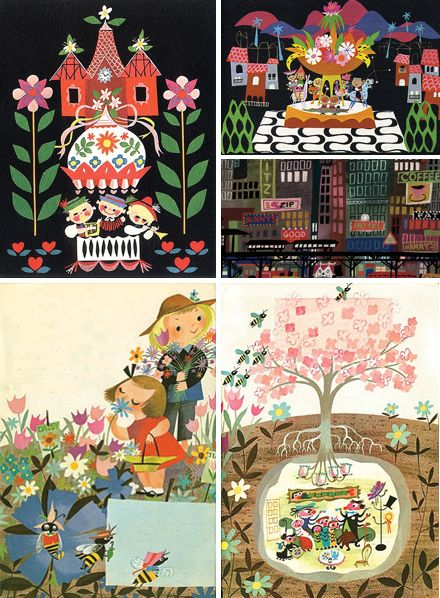 Beautiful and sweet illustrations from Mary Blair