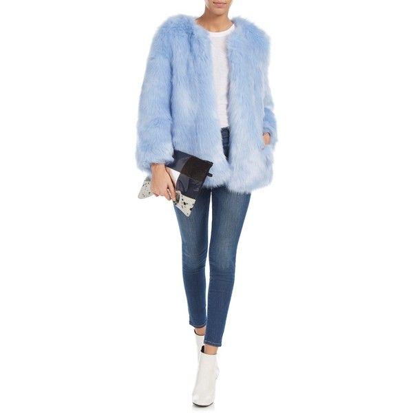 Thp Shop Baby Blue Faux Fur Coat Blue Faux Fur Coat Faux Fur Coats Outfit Fur Coat Outfit