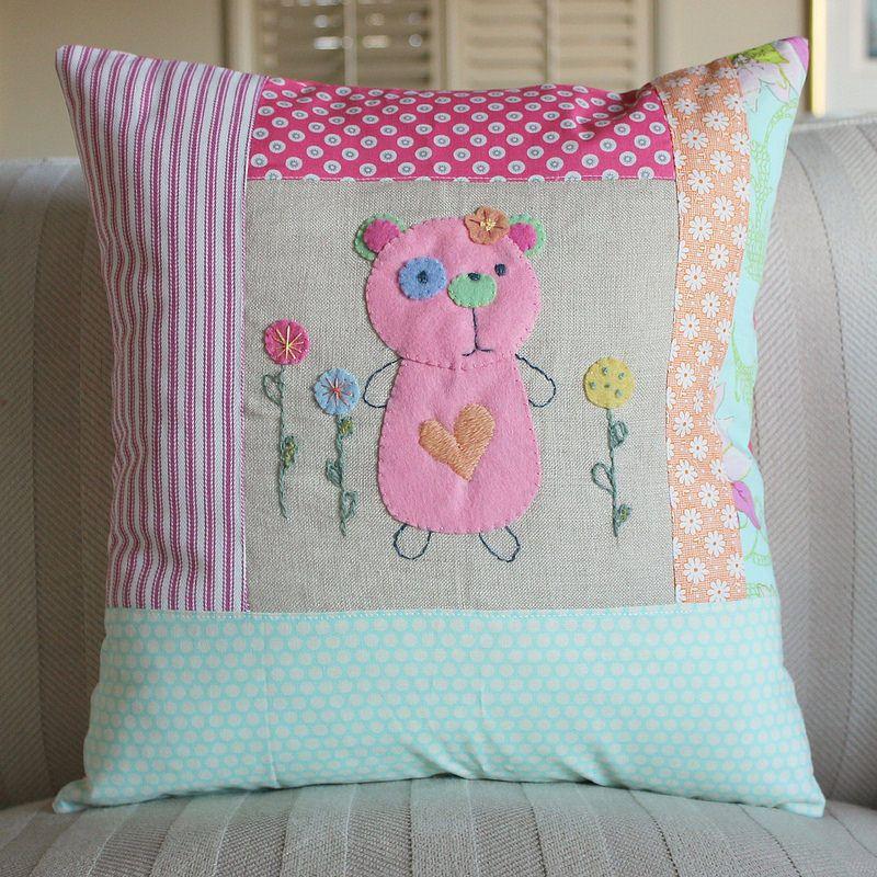 Tea Towels Pillow Talk: Pillows, Patchwork Pillow, Applique