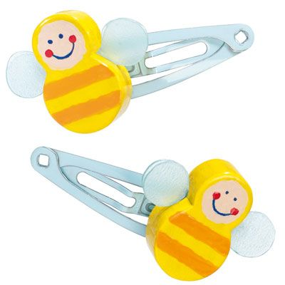 Haba Bienchen Hair Clips  :  bee fashion accessories bumble bee designer