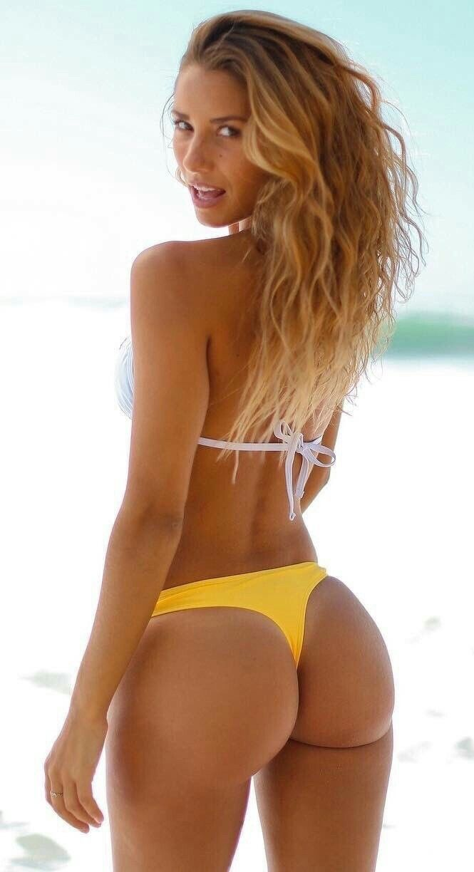Sierra model yellow bikini