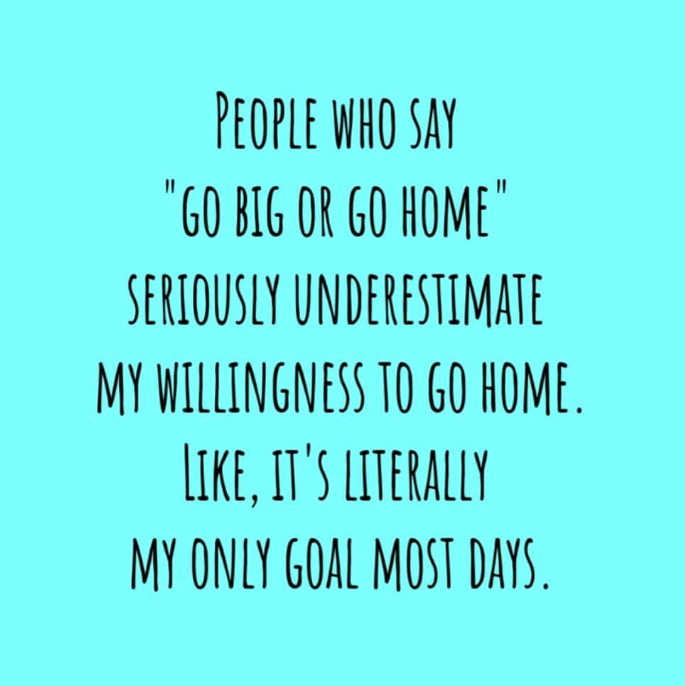 I'm dreaming of a weekend with lots of #gohome time