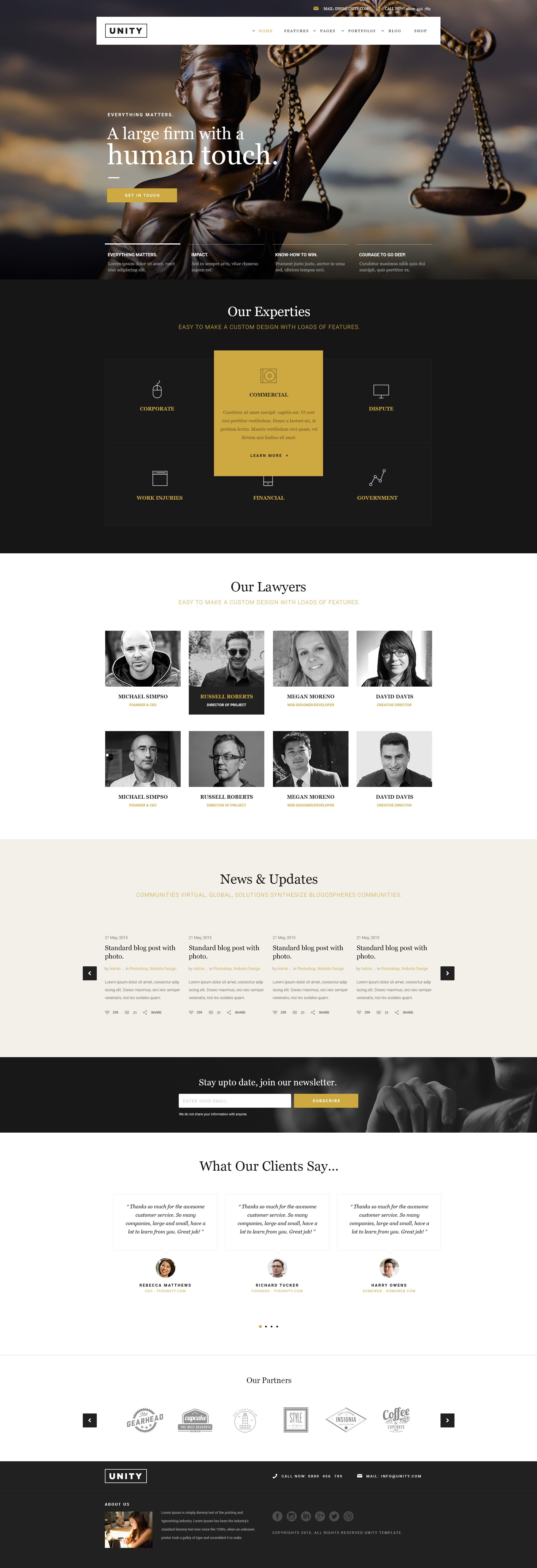 HTML Template with 32 home page layouts