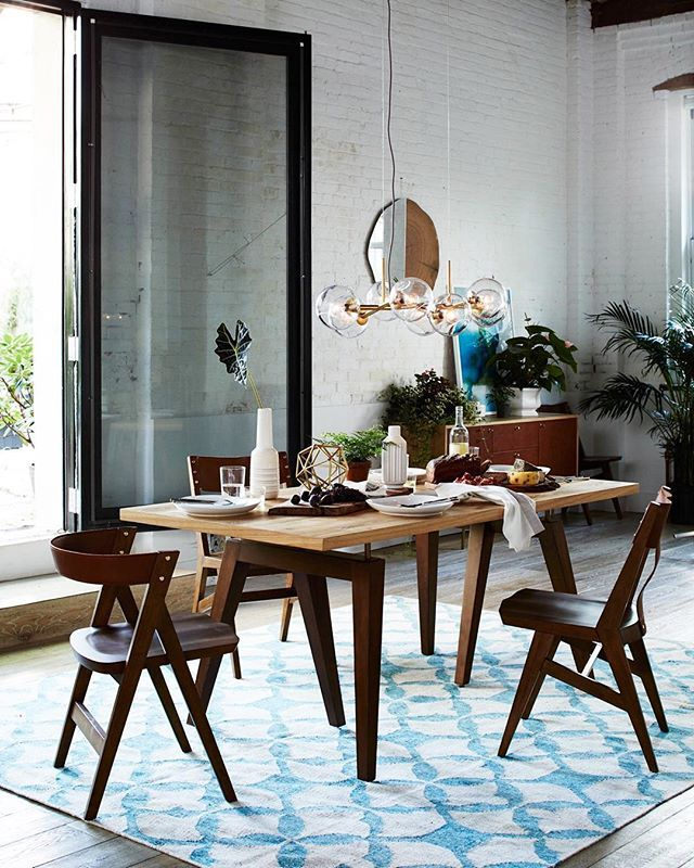 Dreaming of dining with the windows open. How many days 'til spring again?  #mywestelm