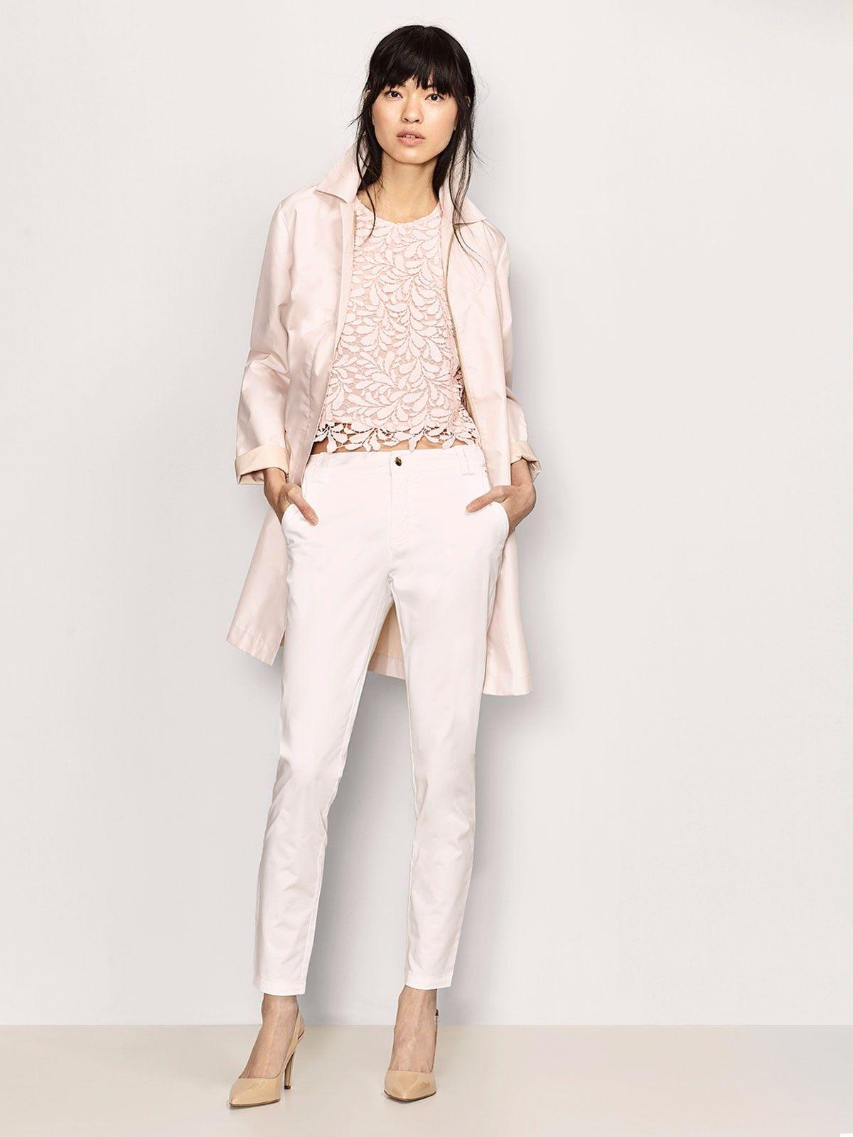 Combinada Cuarzo Con Mujer Guipur Pantalón Top Rosa De PTSXZWXwqv