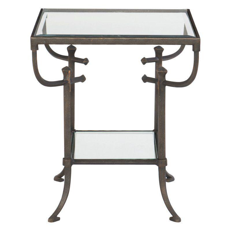 bernhardt hawthorne rectangular metal end table products in 2019 rh pinterest com