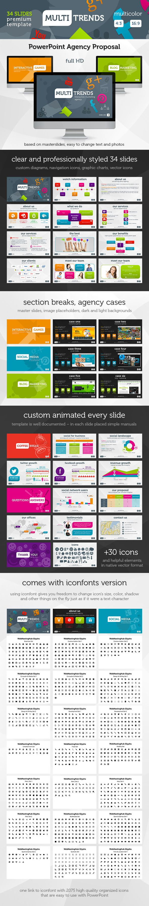 multi trends powerpoint presentation template this template is based