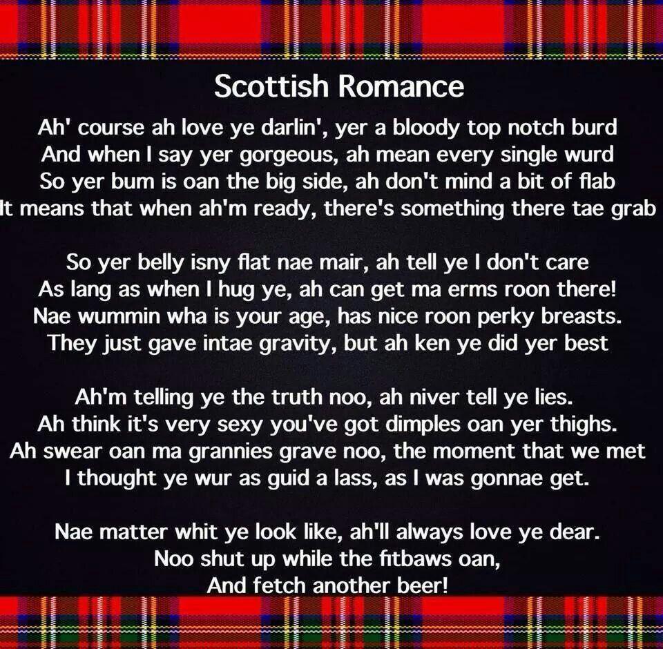 Scottish Wedding Poems Funny Midway Media