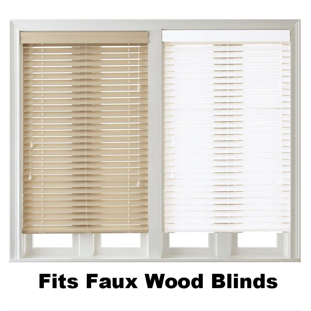 Xl Inside Mount Blinds Curtain Rod Bracket Attachment W Non Slip Strip With Images Faux Wood Blinds Curtains With Blinds Curtain Rod Brackets