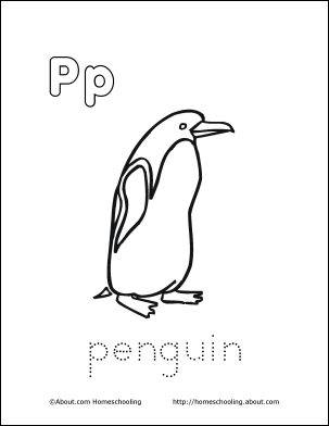 Letter P Coloring Book