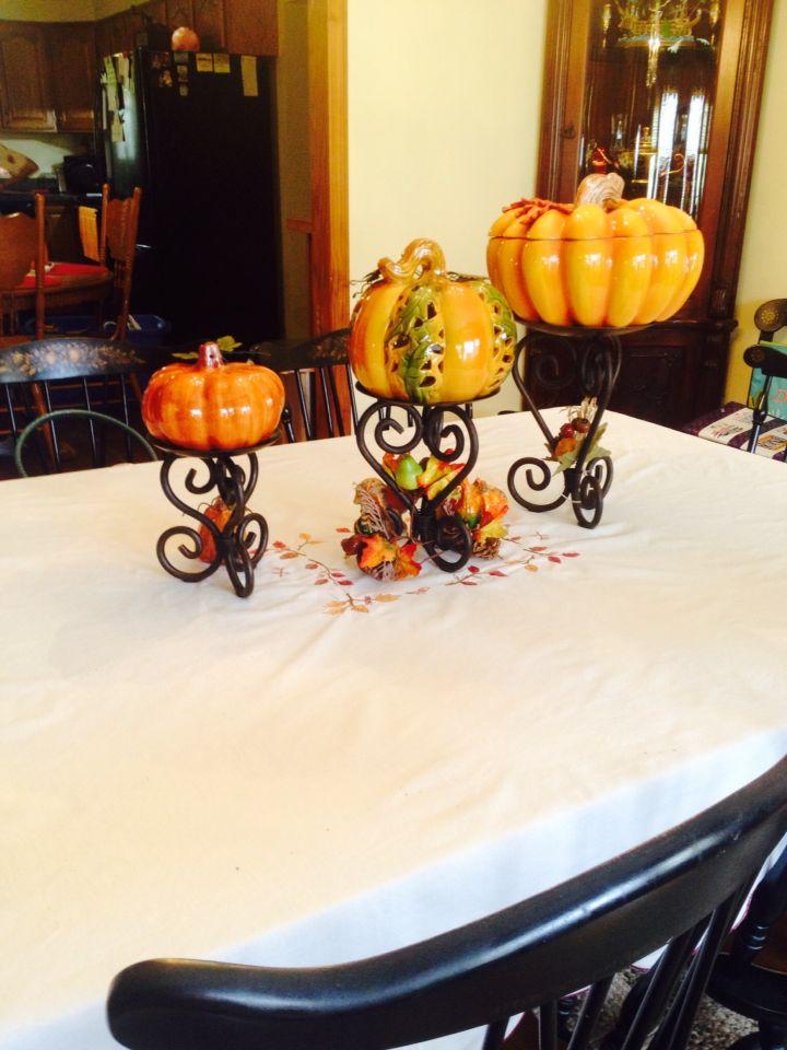 Pumpkins look great elevated!
