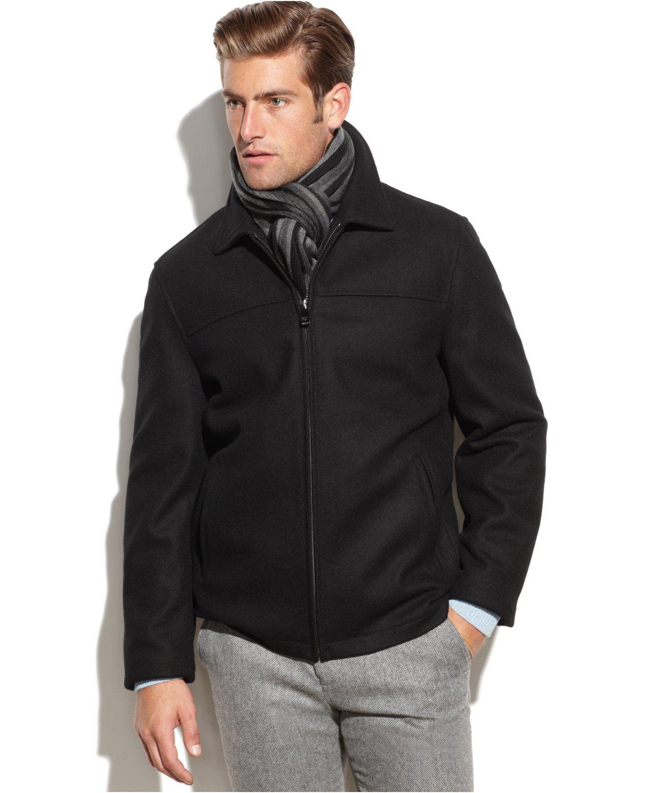 Calvin Klein Solid Wool Blend Overcoat With Scarf Coats Jackets Men Macy S Http Www1 Macys Com Shop Product Cal Overcoats Mens Jackets Coats Jackets [ 1616 x 1320 Pixel ]