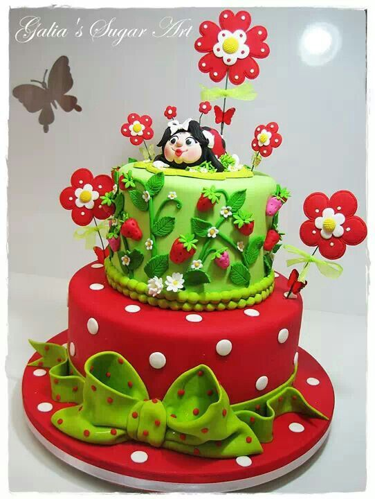Eat Cake Fondant Gumpaste Flowers And Ladybug