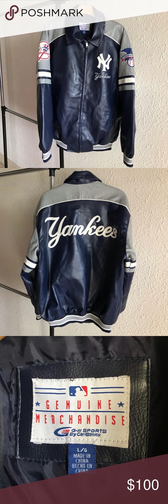 New York Yankees Leather Jacket Ny Mlb Embroidered Leather Jacket Jackets New York Yankees [ 1740 x 580 Pixel ]