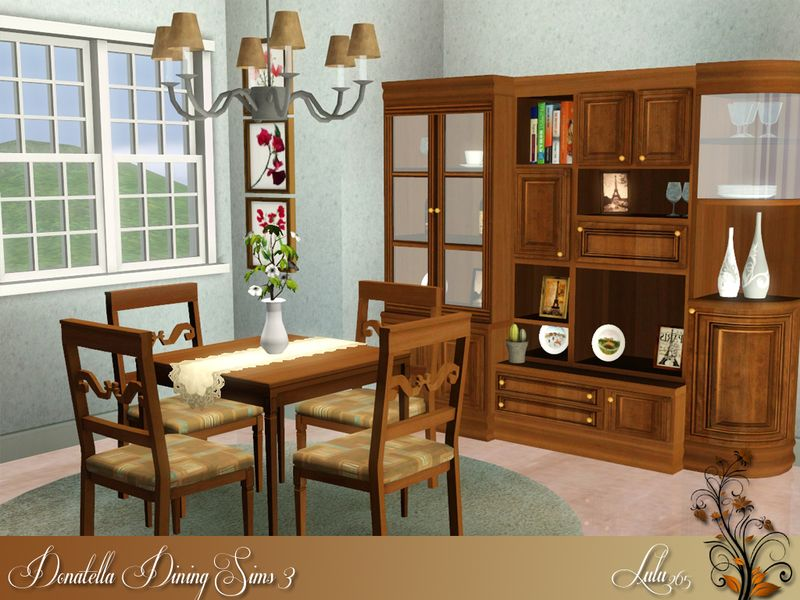 Lulu265u0027s Donatella Dining For Sims 3