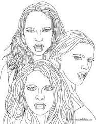 Pin By Natalie Charron On The Vampire Diaries Monster Coloring Pages Coloring Pages Mythological Creatures