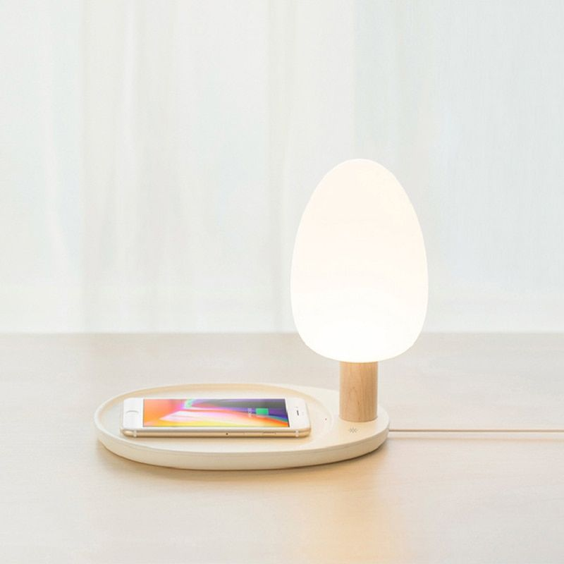 Wireless Charger For Iphone X 8 8 Plus Nokia Lumia Creatived Colorful Touch Switch Led Night Light Bedside Lamp Charger Ecomyshop Shop All You Need Bedside Lamp Led Night Light Wireless Charger