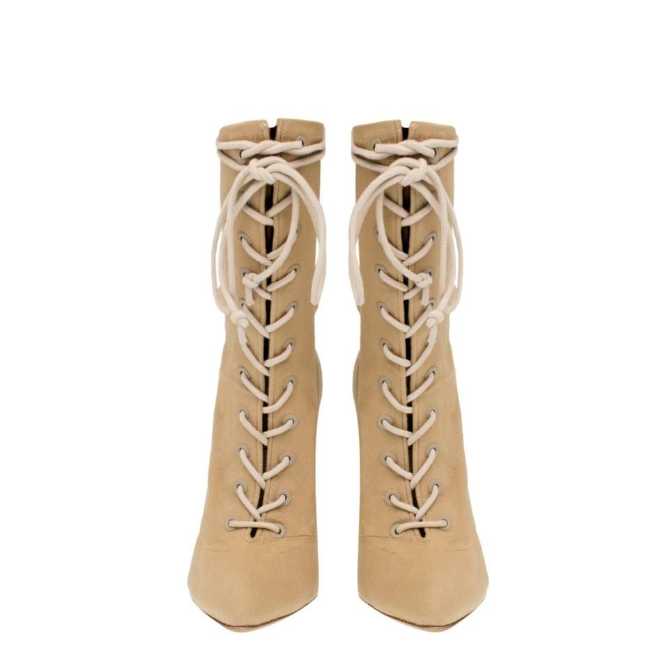 DOLLAR STRETCH CANVAS LACE UP BOOT