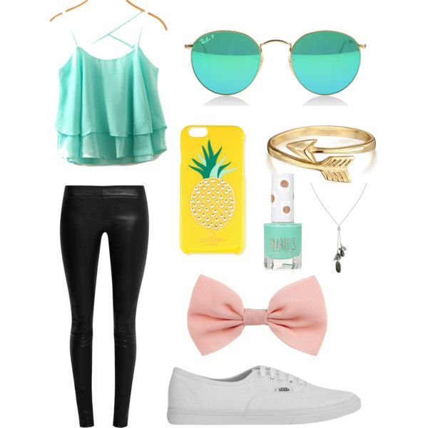A fashion look from June 2015 by soccerlife2323 featuring The Row, Vans, Banana Republic, Bling Jewelry, Kate Spade and Topshop