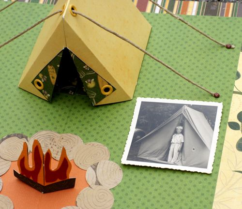 Layout: Pop-up Zelt nach Karen Burniston | Diy geschenke basteln ...