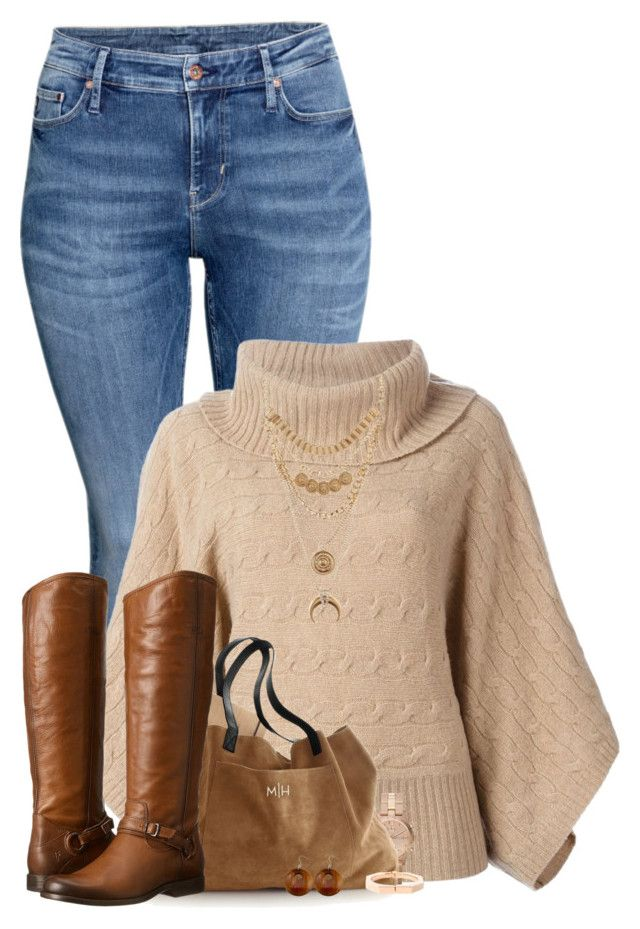 """Flat Boots"" by majezy ❤ liked on Polyvore featuring H&M, Polo Ralph Lauren, Marc by Marc Jacobs, Frye, Charlotte Russe, Vita Fede, Dayna Designs, women's clothing, women and female"