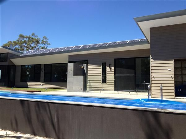 Solar Lap Pools Classy Weatherboard Home With An Awardwinning Lap Poolscyon™ Linea