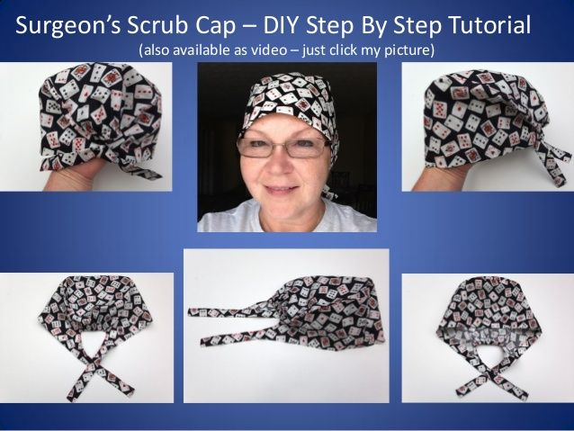 Scrub Caps How To Diy Tutorial Teaching You How To Sew A Surgeon S Scrub Cap Scrub Hat Patterns Sewing Patterns Hat Pattern