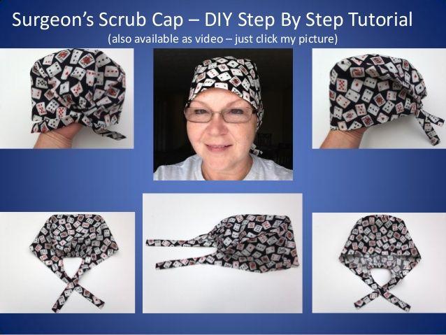 Scrub Caps How To Diy Tutorial Teaching You How To Sew A