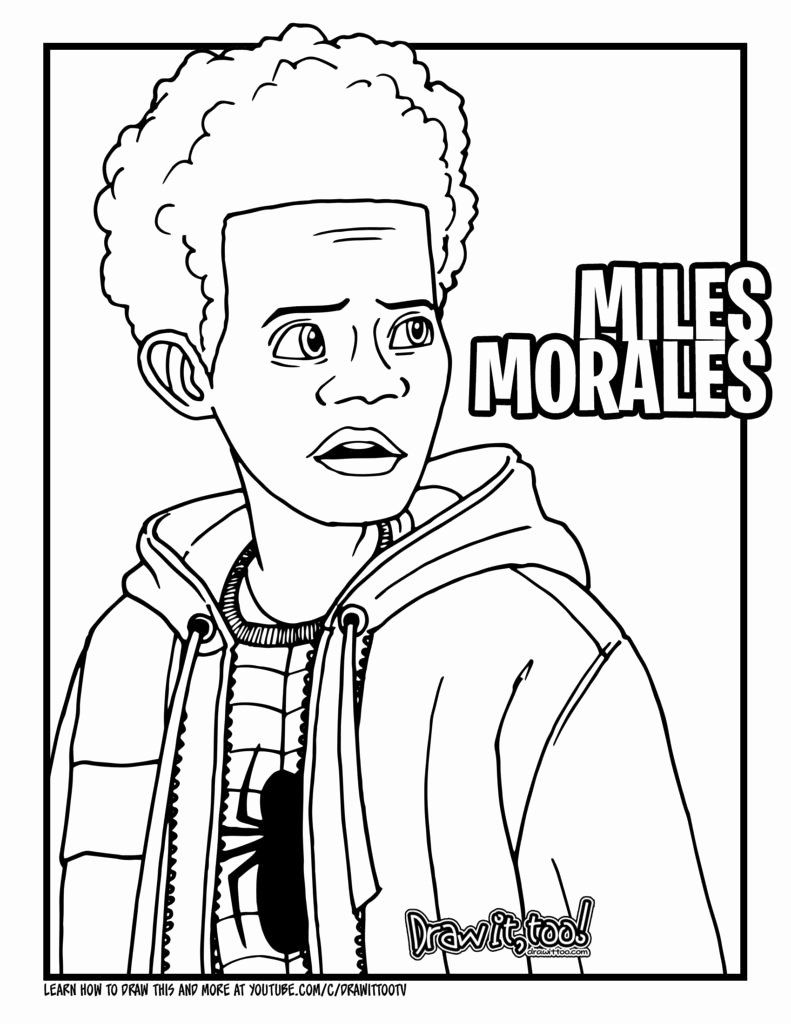 Miles Morales Coloring Page New Spiderman Miles Morales Coloring Pages Coloring Pages Bat Coloring Pages Spiderman Coloring