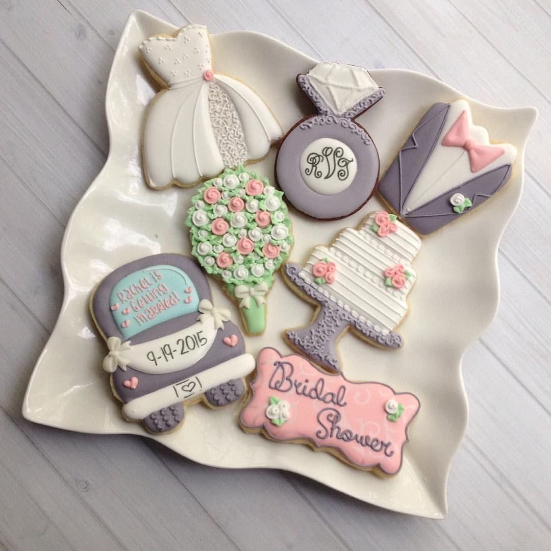 Bridal Shower Cookies madriscookiekitchen