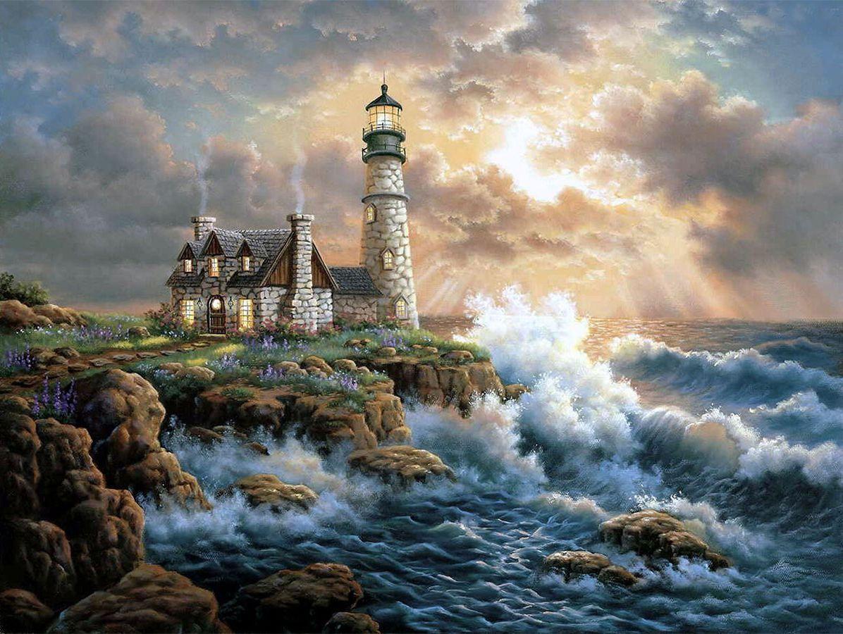 seaside cottage diamond painting embroidery kit 5d diamond rh pinterest com
