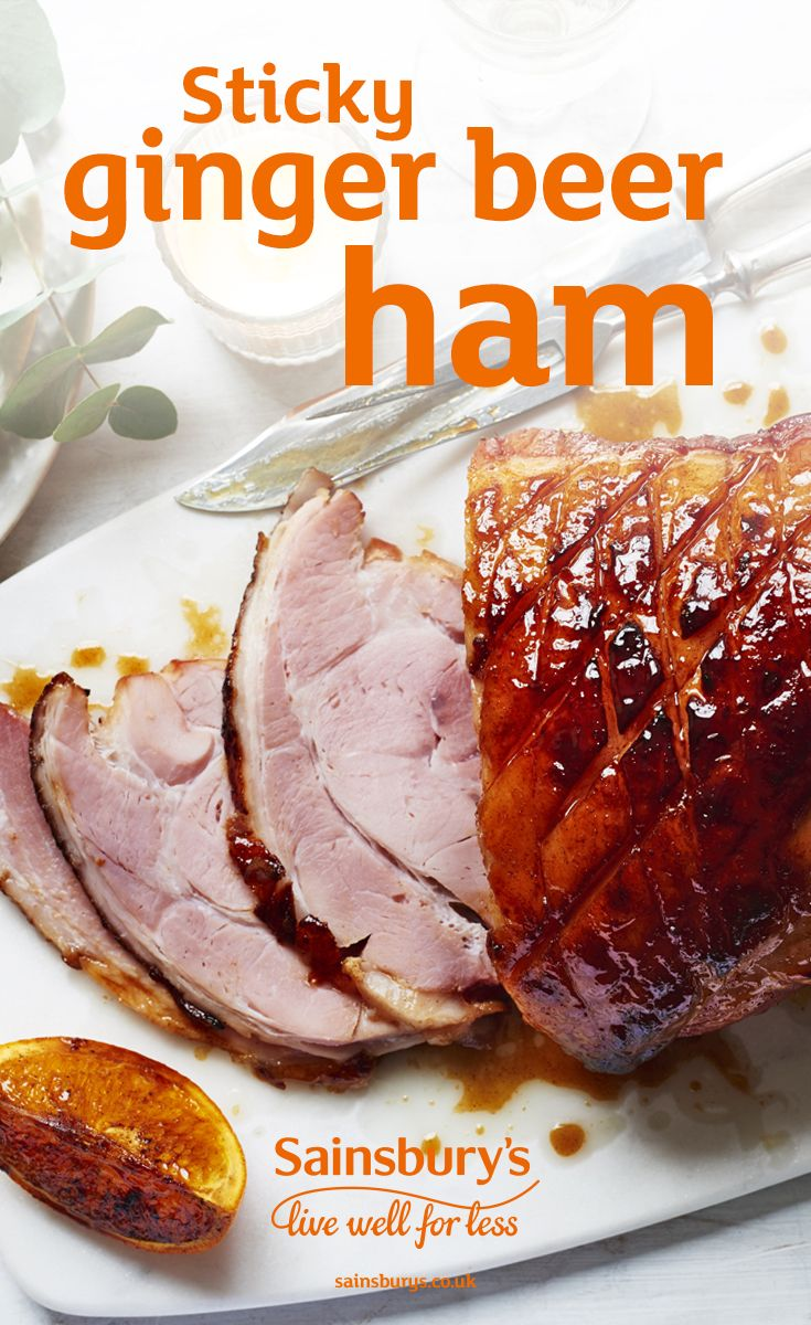 Recipe Sticky Ginger Beer Gammon Sainsbury S Recipe Christmas Gammon Recipes Christmas Food Dinner Boxing Day Food