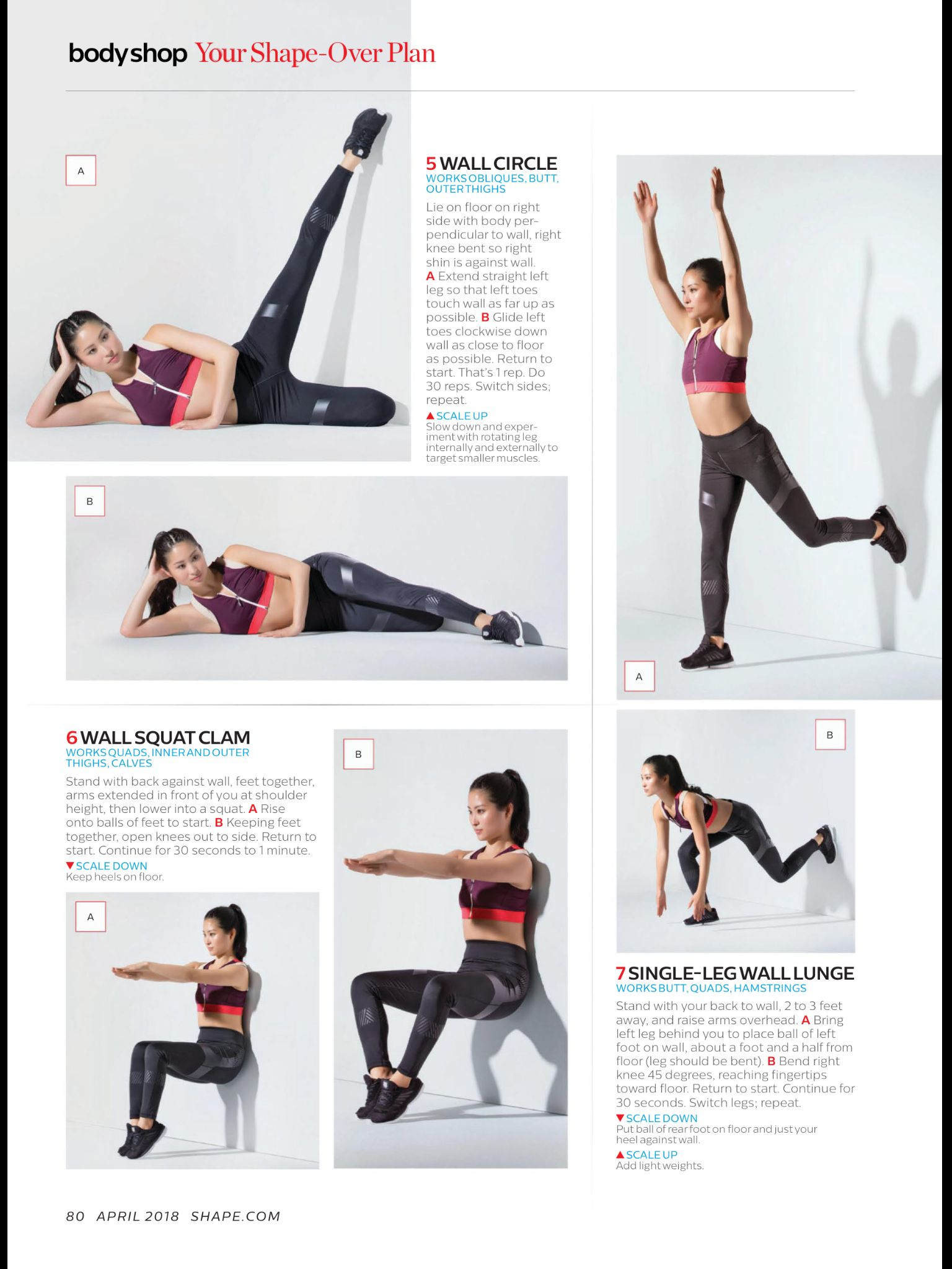 Hit The Wall From Shape April 2018 Read It On The Texture App Unlimited Access To 200 Top Magazines Get Fit Exercise Weights Workout